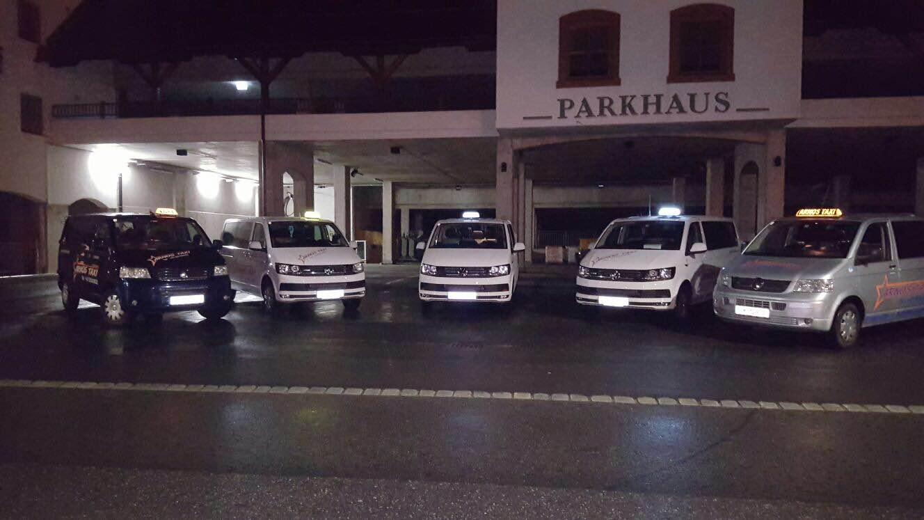Flughafentaxi und Bahnhoftransfers nach Sölden mit unseren modernen Taxis